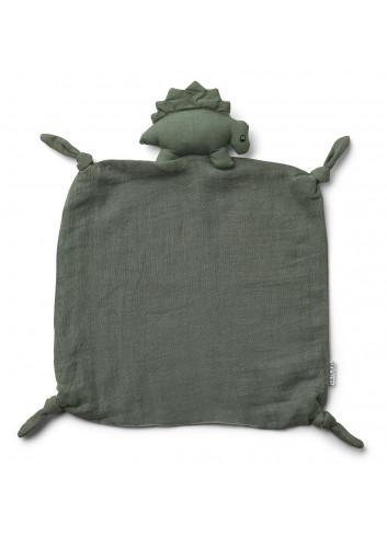 Agnete cuddle cloth - Dino faune green