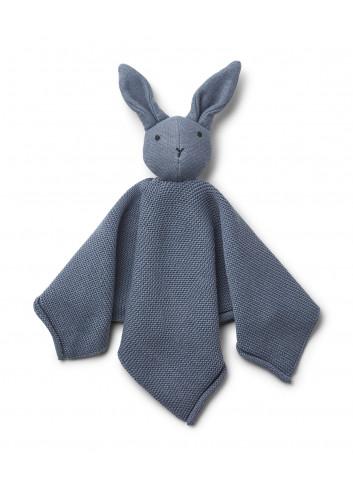 Milo Knit Cuddle Cloth - Rabbit Blue Wave