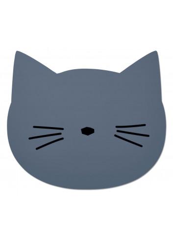 Aura Placemat - Cat Blue Wave
