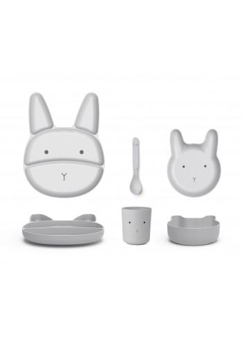 Jules Junior Bamboo Set - Rabbit dumbo grey