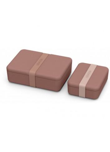 Bradley lunch box set - Donkerroze