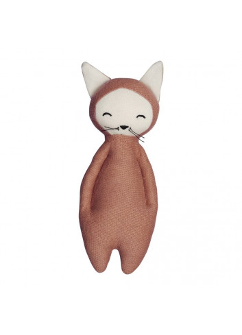Organic Cotton Rattle Soft – Fox – Clay