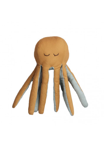 Rattle Soft Octopus - Ochre