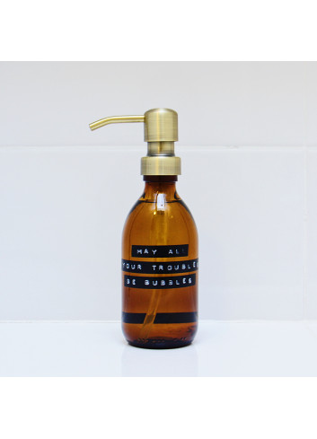 """Handsoap (250ml) gold """"May all your troubles be bubbles"""""""