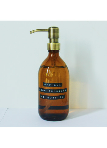 """Handsoap (500ml) gold """"May all your troubles be bubbles"""""""
