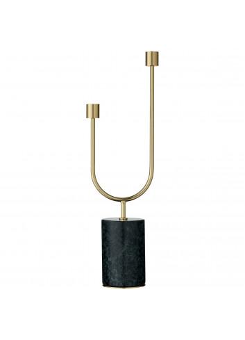 Candle holder GRASIL - forest marble/gold