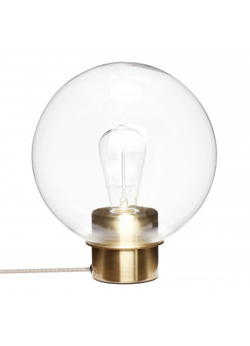 Table lamp - glass / brass